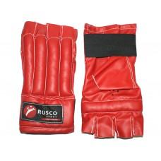 Шингарды RuscoSport ХL красные (изготовлены из качественной искусственной кожи