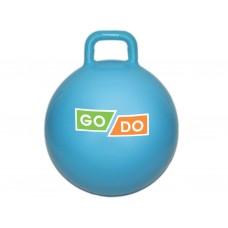 Мяч-прыгун с ручкой. Диаметр 45 см. Цвет: голубой: 4-D45-Г