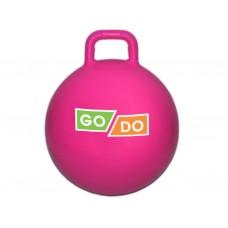 Мяч-прыгун с ручкой. Диаметр 45 см. Цвет: малиновый: 4-D45-МА