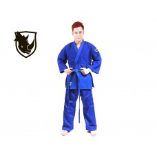 Кимоно дзюдо RHINO. Цвет синий. Размер 28-30. Рост 105. Кимоно из плетёной хлопковой ткани плотность