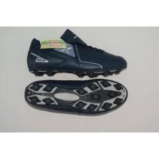 Бутсы футбольные , резина, круглые шипы. Цвет синий, размер 44 :(AX6160):