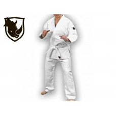 Кимоно дзюдо RHINO. Цвет белый. Размер 28-30. Рост 105. Кимоно из плетёной хлопковой ткани плотность