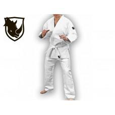 Кимоно дзюдо RHINO. Цвет белый. Размер 28-30. Рост 110. Кимоно из плетёной хлопковой ткани плотность