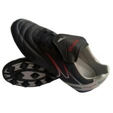 Бутсы футбольные SPRINTER,  верх - PVC, подошва - резина, круглые шипы, р-р 45. Цвет: чёрный+серые в